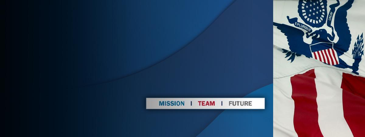 CBP flag and 'mission team future'