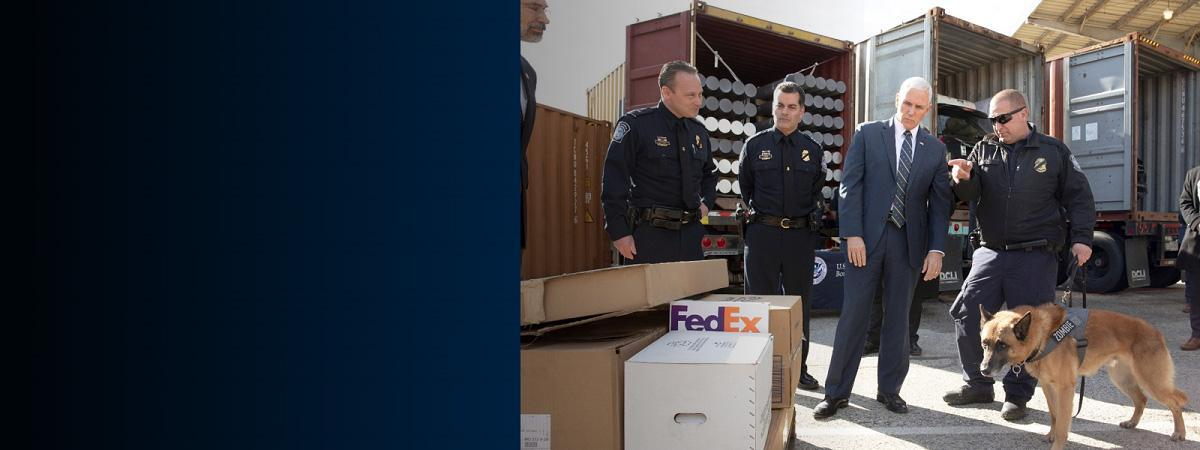 Vice President Visits CBP Operations in Baltimore
