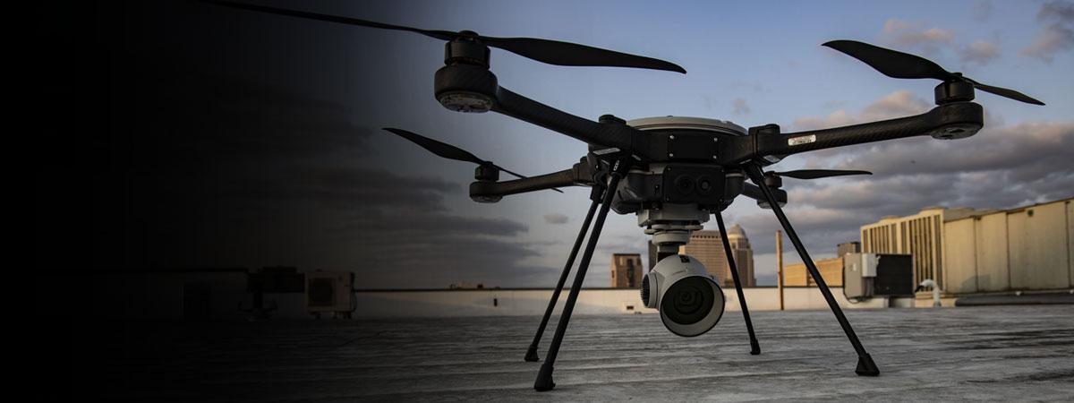 Closeup photo of small unmanned aircraft