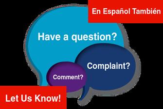 Have a question, comment, complaint?