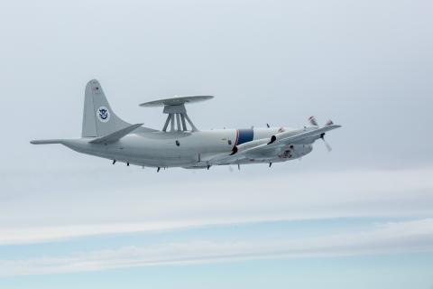 An Air and Marine Operations P-3 Airborne Early Warning aircraft
