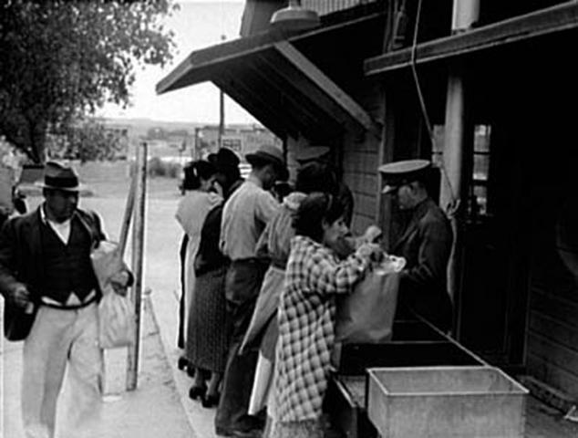 Quarantine inspection station, El Paso, Texas, 1937.