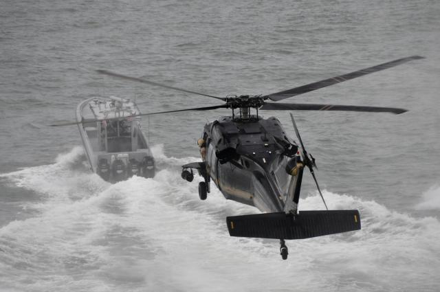 CBP air and marine assets on patrol.