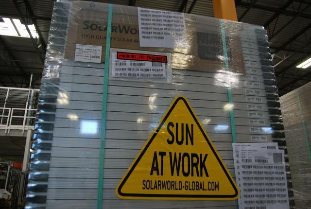 Here comes the sun:  The final product packaged and ready to be shipped. Photo by Ed Colford