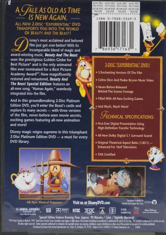 Real Beauty and the Beast DVD back cover
