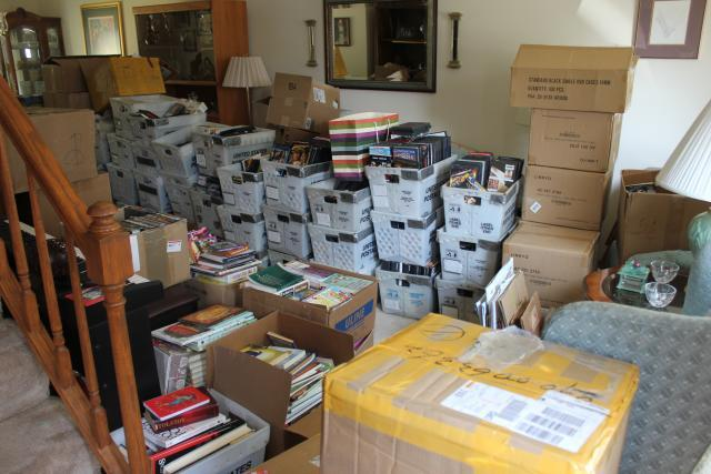 More than 100,000 counterfeit DVDs of movies and television shows were found in Joseph Palmisano's home in Bartlett, Ill., making it one of the largest counterfeit DVD seizures in the Midwest. All photos in this gallery courtesy of Bartlett, Ill., Police Department