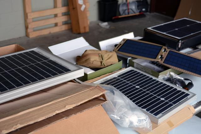 A collection of violative imported solar goods found during Operation Solar Flare requiring additional duties. Photo by Scott Sams
