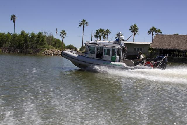 With a cabin to protect the crew from the elements, Safe Boatsare used to patrol deeper parts of theRio Grande River.