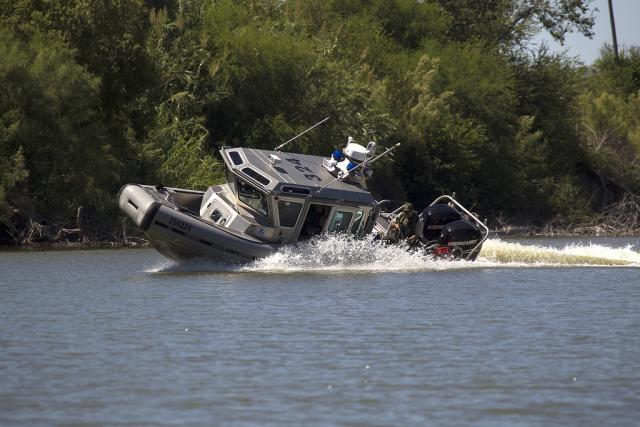 Border Patrol vessel commanders train extensively to master the delicate craft of maneuvering a Safe Boat.