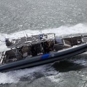Marine Interdiction Agents test the capabilities of AMO's Coastal Interceptor Vessel.