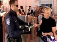 CBP Officer processing travelers