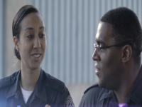 CBP officers talking