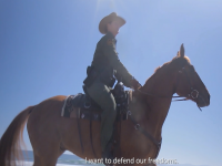 USBP officer on horseback