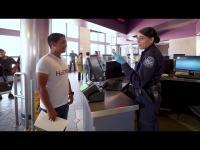 CBP Officer interviews a person