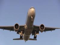 Photo of a plane landing