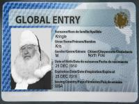 Photo of Santa's Global Entry Card