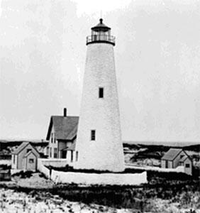 Cedar Point Lighthouse Nantucket Mass., built in 1818