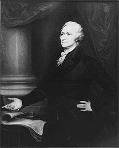 Alexander Hamilton: first Secretary of the Treasury served 1789 - 1797.