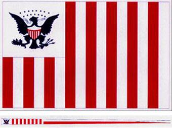 U.S. Customs Ensign & Pennant - Type of 1799. The 15 stars represent the number of states in the Union in 1799.