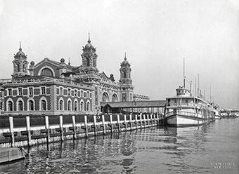 Main Administration Building on Ellis Island