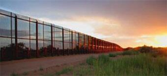 Fence along the southwest border