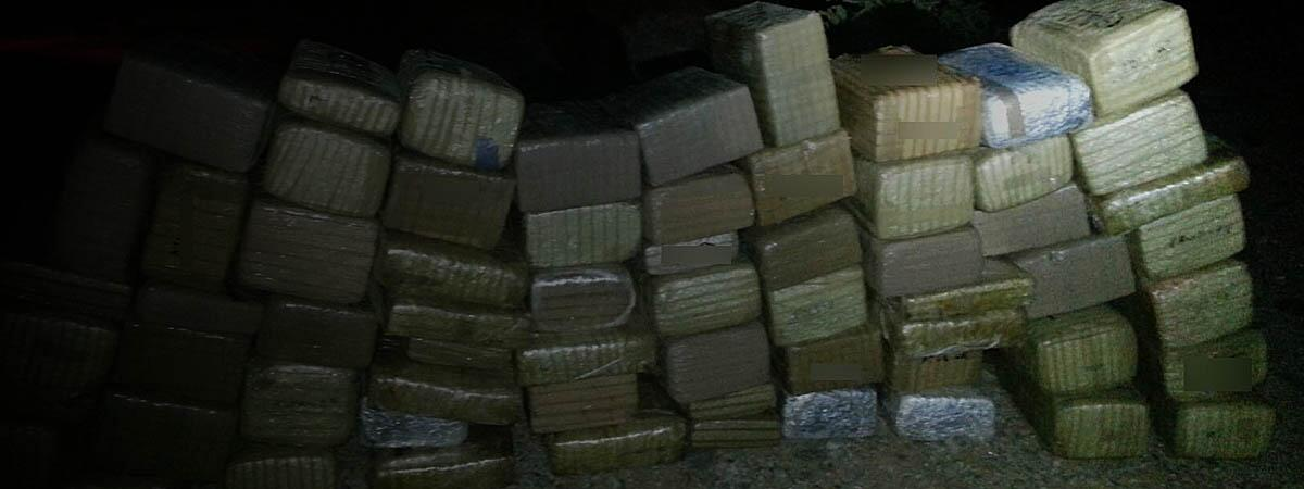 Bundles of marijuana seized by Border Patrol agents.