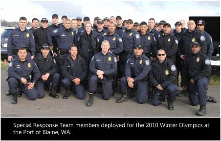 Special Response Team members deployed for the 2010 Winter Olympics