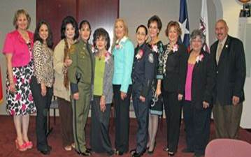 Chief CBPO Dovalina and PAIC Torres pose with the Laredo Commission for Women's 2014 Hall of Fame inductees and City of Laredo Mayor Raul Salinas.
