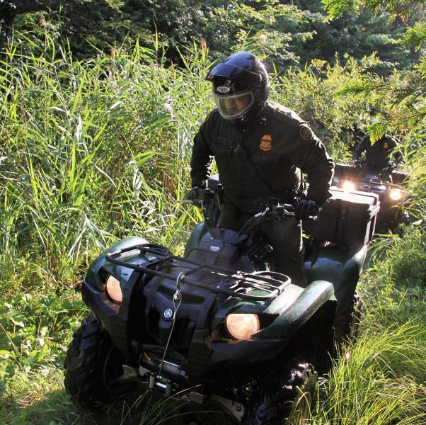 Border Patrol agents use ATVs to navigate the sometimes rough terrain on the Northern Border.