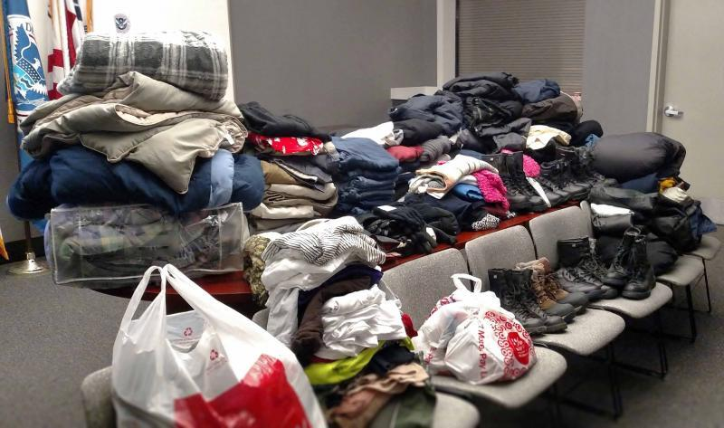 More than 300 articles of clothing and household goods were delivered to veterans in New Hampshire.