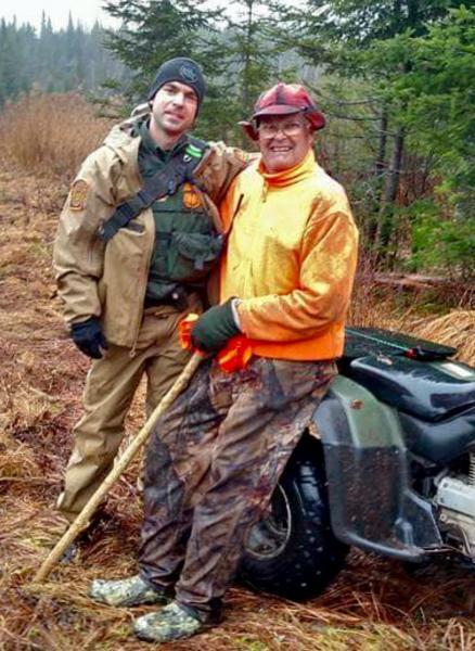 Border Patrol Agent Matt Bovay finds a hunter who had been lost in the woods for four days.