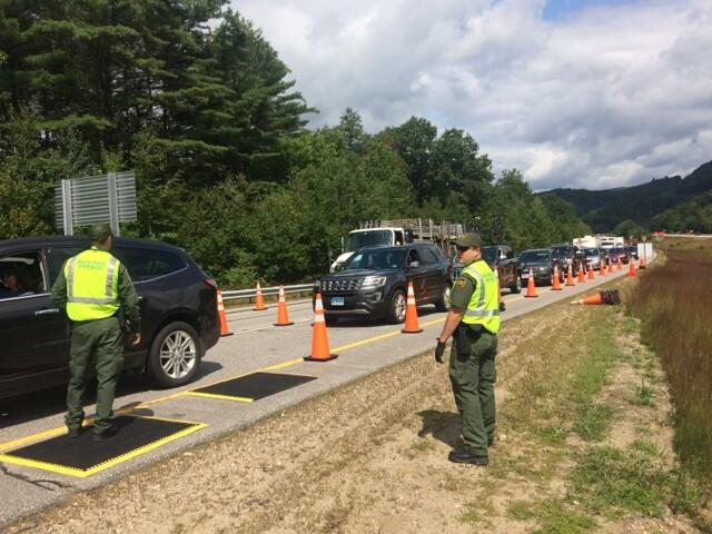 Swanton Sector Border Patrol conducts checkpoint operation in Vermont.