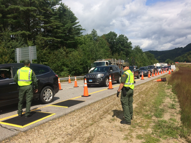Border Patrol agents conduct checkpoint operations in Lincoln, N.H.