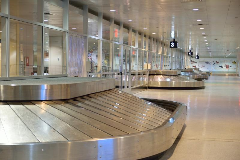 The redesigned lower level of Terminal E allows travelers to get through the exit process faster.