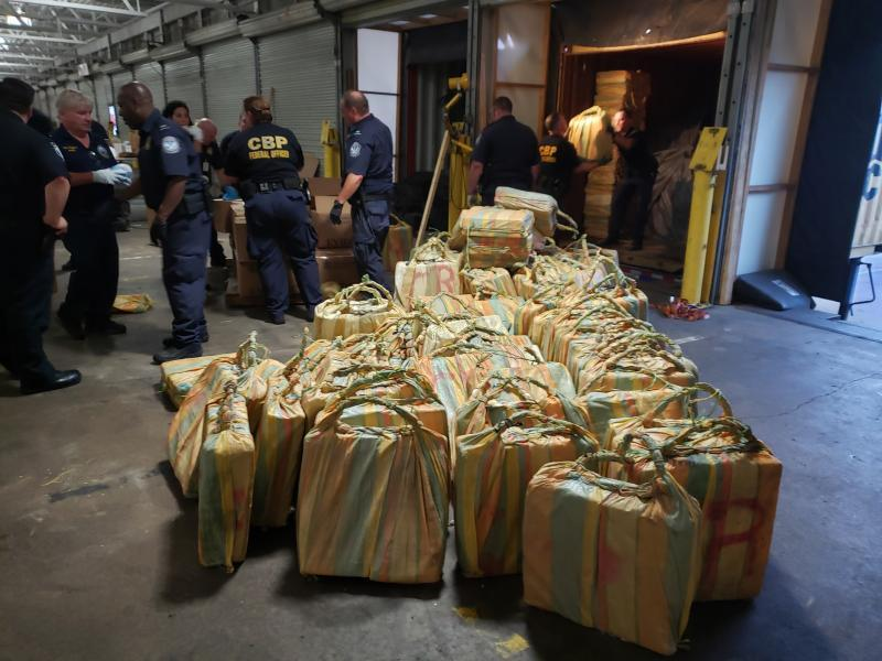 CBP officers in Philadelphia seized more than 17.5 tons of cocaine on June 17, 2019 found in shipping containers aboard the MSC Gayane.