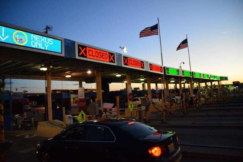 Peace Bridge port of entry in Buffalo, NY.
