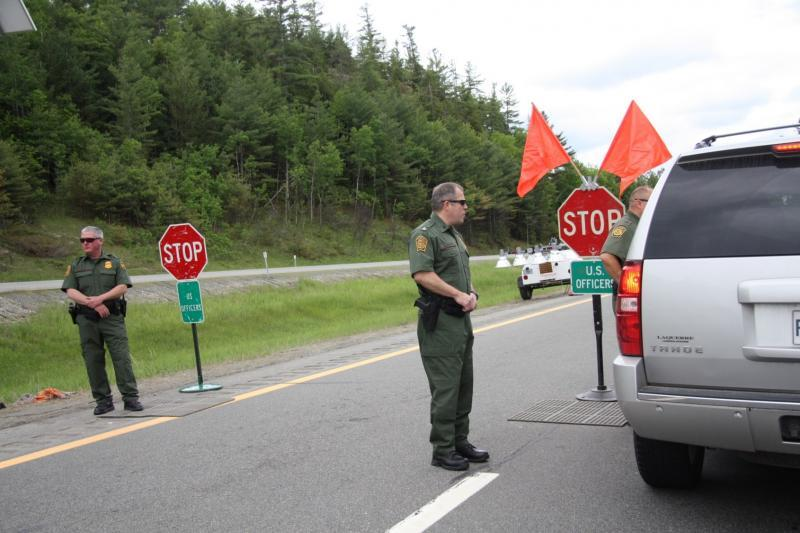 Border Patrol agents conduct checkpoint operations in upstate New York.