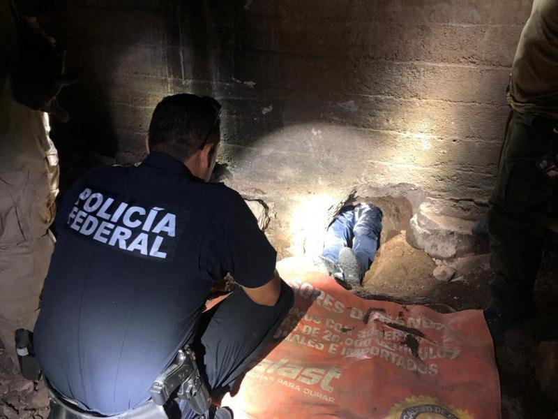 An international team of agents from both the U.S. and Mexico discovered and inspected a human smuggling tunnel under Nogales Wednesday.