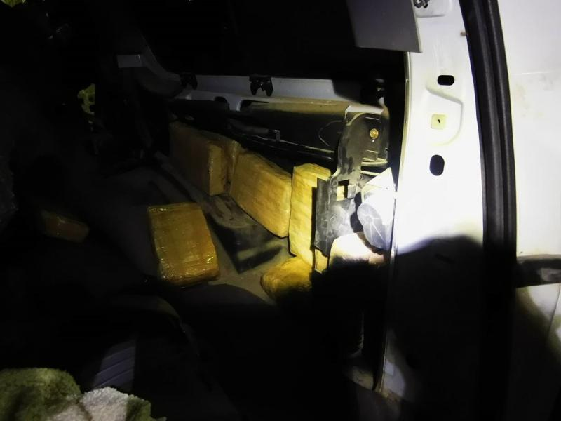 200 packages of marijuana found hidden in a vehicle attempting to