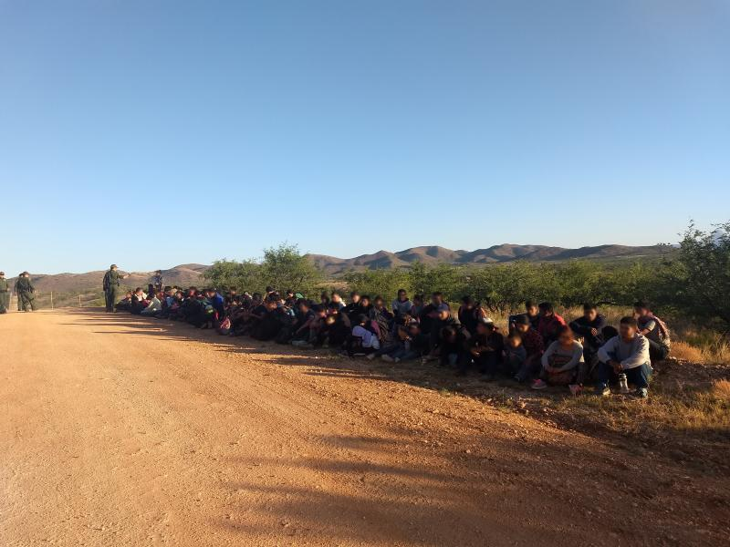 A large group of 134 migrants was arrested by Tucson Sector Border Patrol agents June 4.