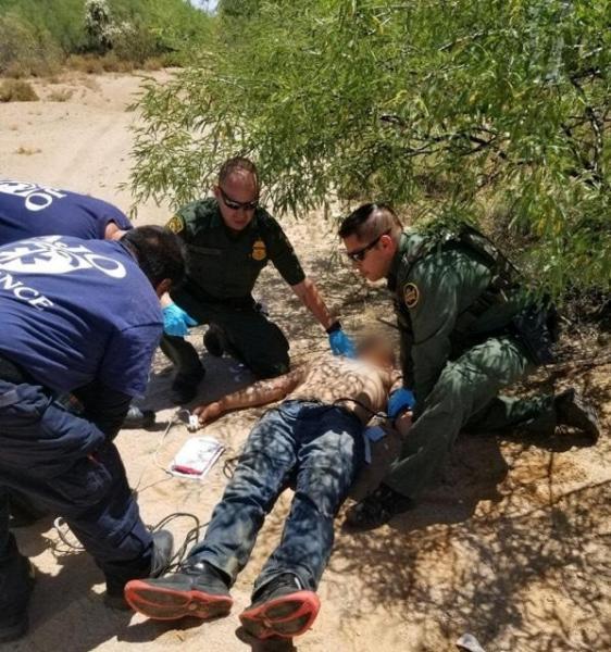 Rescate de inmigrante.