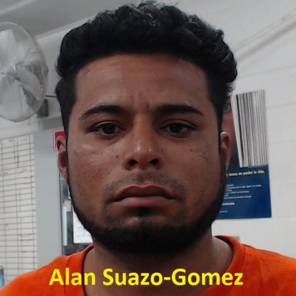 An image of Alan Suazo-Gomez after his arrest by U.S. Border Patrol agents in Yuma Arizona.