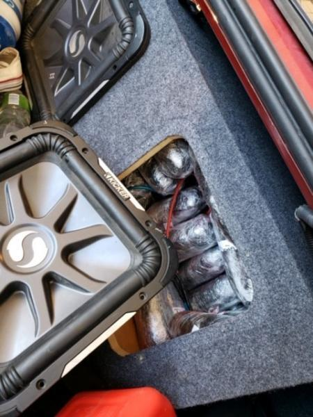 An after market audio speaker was found to have 67 pounds of meth hidden it. A 19-year-old American female was arrested for the drug smuggling attempt.
