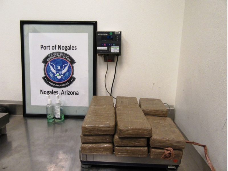 Narcotics seized by agents in Nogales