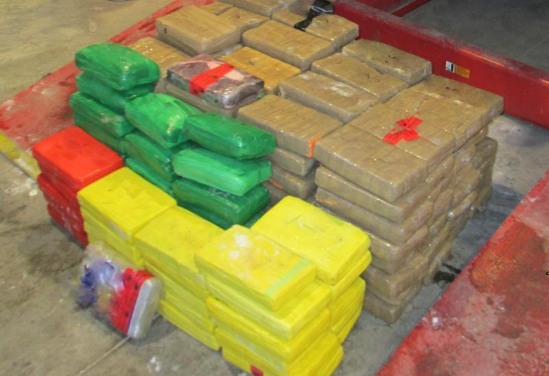 U.S. Customs and Border Protection officers at the Calexico Port of Entry seized approximately 480 pounds of cocaine.