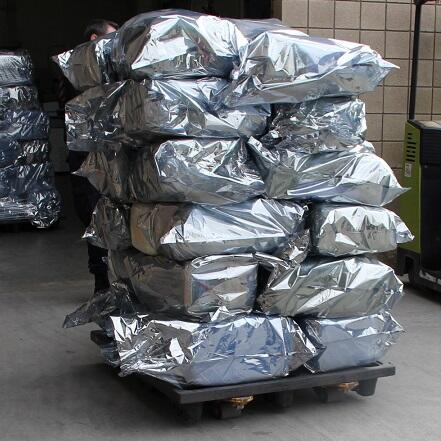 CBP officers extracted a total of 472 packages of marijuana from a cargo shipment manifested as macaroni pasta at the Otay Mesa cargo facility.