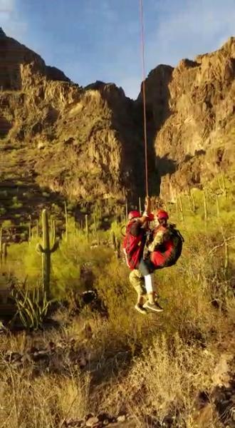 Border Patrol agents from the Casa Grande Station encountered four illegal aliens in the mountains west of Sells, Arizona, Tuesday afternoon, one of whom required an aerial extraction by an Arizona Department of Public Safety helicopter.