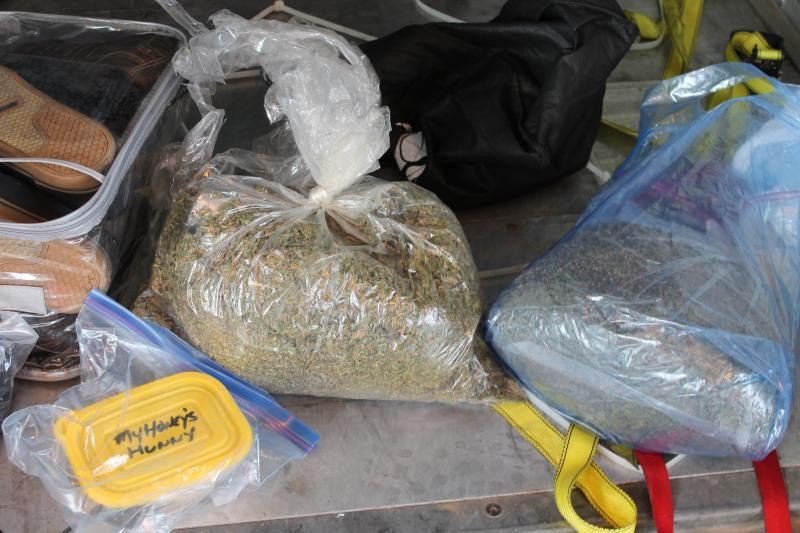 CBP officers stop couple and find stolen property and drugs.