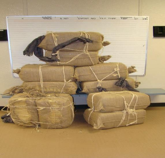 Border Patrol agents arrest seven individuals attempting to smuggle more than 250 pounds of marijuana.