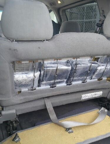 A 60-yr-old man was arrested for having narcotics hidden in his minivan's seat.